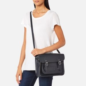 """13"""" Satchel in Leather"""